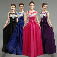 2016 neue ankunft elegante lange abendkleider lace-up prom formales partei-kleid vestidos de festa