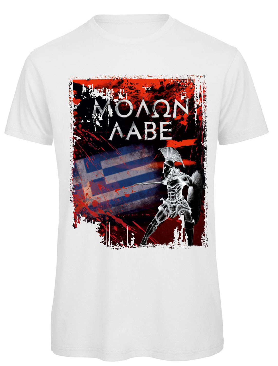 T Shirt Griechenland Greece Hellas MOLON LABE Sparta Thermopyles Funny Tees  Men Short Sale 100 % Cotton T Shirt TOP TEE-in T-Shirts from Men s Clothing  ... 262b3af2f2
