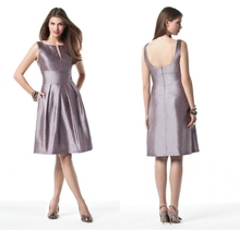 2015 New Fashionable Lavender A-line Sleeveless And V-Neck Low Back Bridesmaid Dresses Special Occasion Dresses Vestidos Longos