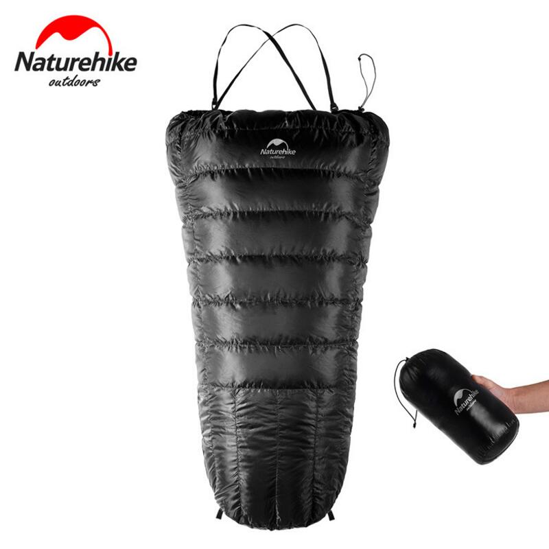 NatureHike Spring And Autumn Half Chest Travel Sleeping Bag Duck Down Lazy Bag Ultralight Camping Tourism Sleeping Bags стоимость