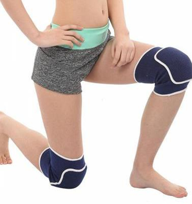 Elastic Breathable Absorb Sweat Thicken Sponge Knee Sleeve Men Women Sport Protect Knee High Quality Leg Warmer 2pairs=4psc