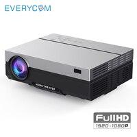 Everycom T26K реального ЖК дисплей проектор Full HD Родной 1080 P 5500 люмен видео светодиодный прожектор дома Театр HDMI вариант Проектор Wi Fi