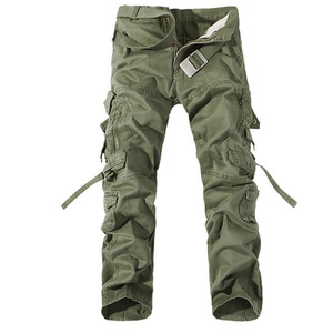 Image 1 - 2019 New Men Cargo Pants army green big pockets decoration mens Casual trousers easy wash male autumn army pants plus size 42