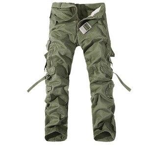 Image 1 - 2019 ใหม่ของผู้ชาย army สีเขียวขนาดใหญ่กระเป๋าตกแต่ง mens Casual กางเกง easy ฤดูใบไม้ร่วงกองทัพกางเกงขนาด 42
