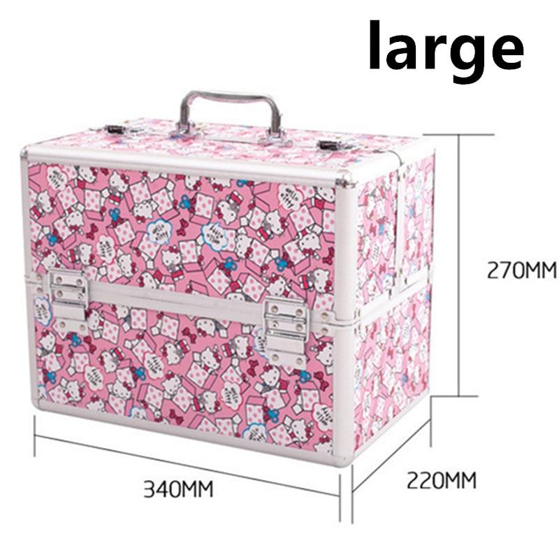 Caja de cosméticos portátil bolsas de viaje estuche extensible para tren de maquillaje soporte para brochas de maquillaje organizador de maquillaje bolso para maletín de belleza - 2