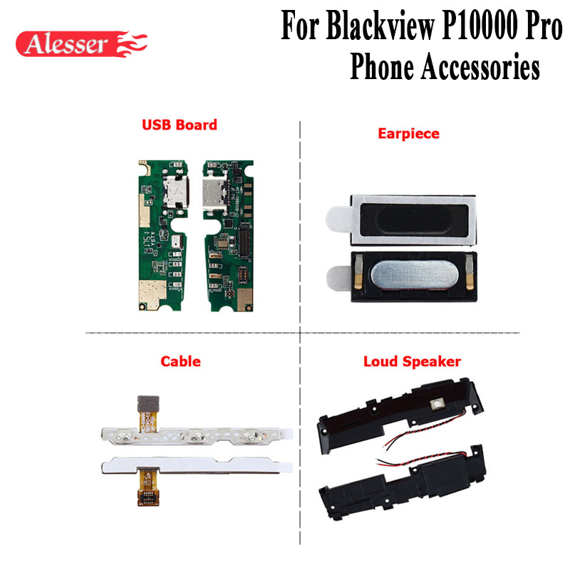 Alesser For Blackview P10000 Pro Loud Speaker USB Board Earpiece Power Volume Cable Replacement For Blackview P10000 Pro PhoneAlesser For Blackview P10000 Pro Loud Speaker USB Board Earpiece Power Volume Cable Replacement For Blackview P10000 Pro Phone
