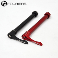 FOURIERS DH Bicycle Rear Hub Axle After 142*12 100*15 Aluminum Alloy Bicycle Lever Downhill Rear Hub The Quick Release Lever
