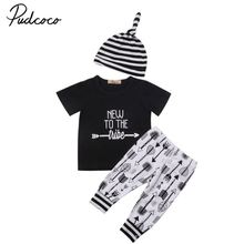Adorable Toddler Newborn Baby Boys Girls Outfit Casual Tops Pants Leggings Hat Clothes Set 0-18M