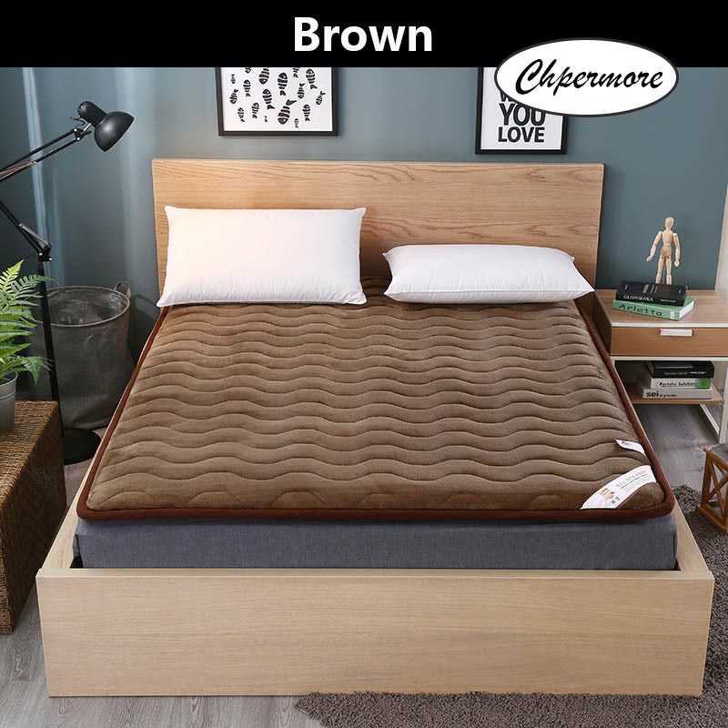 Image 5 - Chpermore Thick warm warm velvet Mattress 1.8m Foldable Tatami student dormitory Single double Mattresses King Queen SizeMattresses   - AliExpress