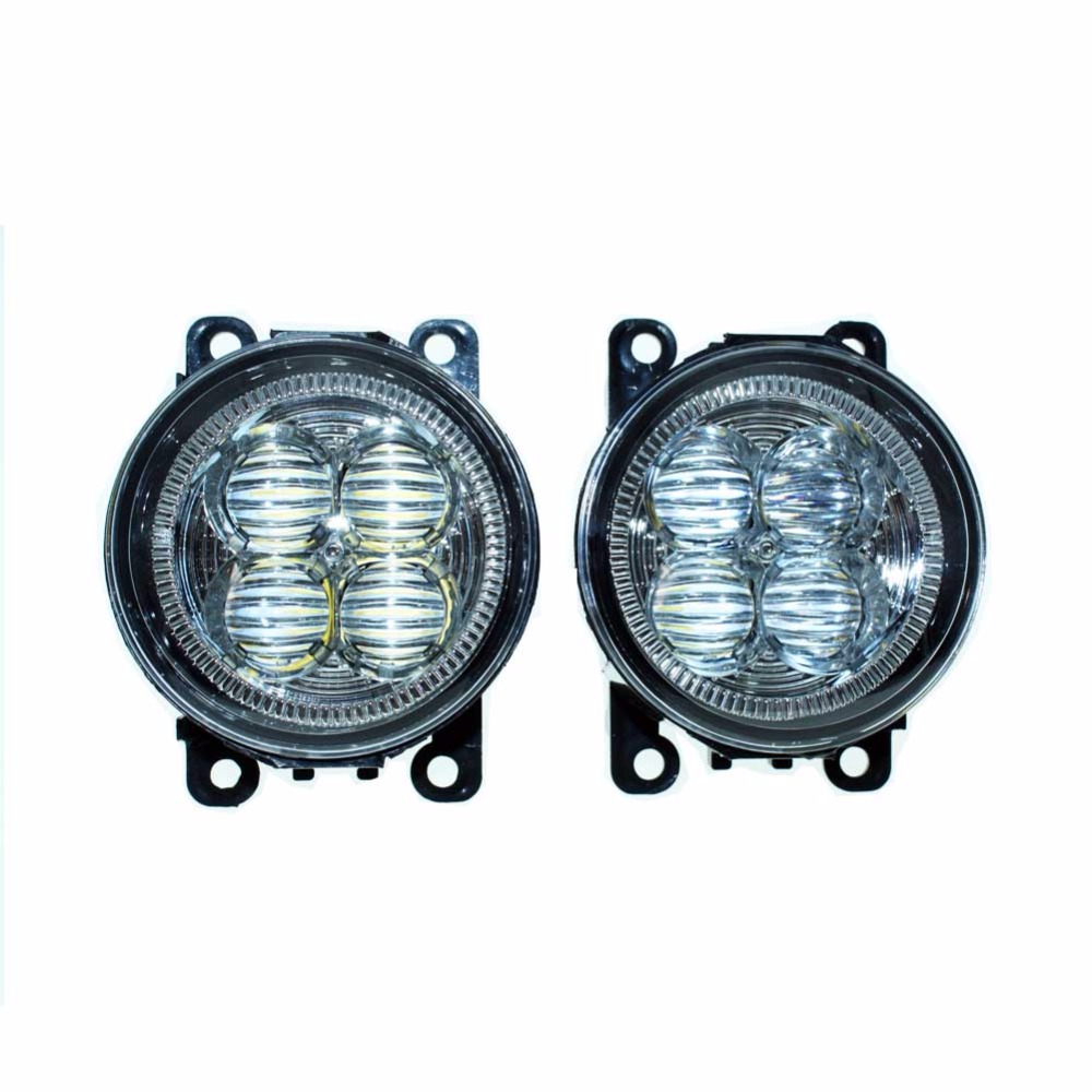 Car Styling Front Bumper LED Fog Lights High Brightness DRL Driving fog lamps 1set For Renault LOGAN Saloon LS 2004-2014 2015 led front fog lights for renault laguna 2 grandtour kg0 kg1 estate car styling bumper high brightness drl driving fog lamps 1set