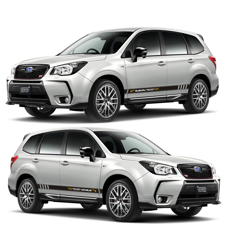 World Datong sport car sticker For Subaru Outback XV Mark Levinson Exterior Side door Decal Car Vinyl Film 1 Pair in Car Stickers from Automobiles Motorcycles