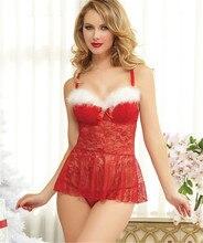 New Hot Christmas Costumes Sexy Baby Doll Underwear Dress Pajamas Women Erotic Lingerie