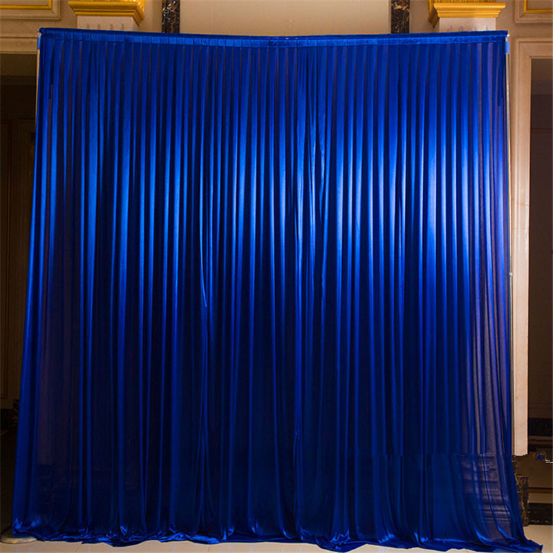 Ice Silk Wedding Backdrops Curtain For Wedding Stage Banquet Party Decoration Simple Curtain Drapes Background Decoration
