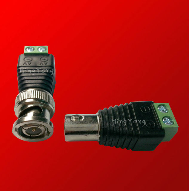 Free shipping 10 Pair CCTV BNC10 male/10 femal to terminal ,CAT5 To Camera CCTV BNC Video Balun Connector to BNC  Coax Connector