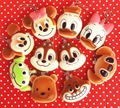 Wholesale 60pcs/lot original 6cm kawaii soft scented squishy mickey bun squeeze toys for cell phone keys Straps squishies bread