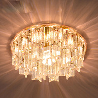 Modern Small Size 14cm Crystal Corridor Ceiling Light Living Room Lobby G4 Bead Embeded Surface Mounted