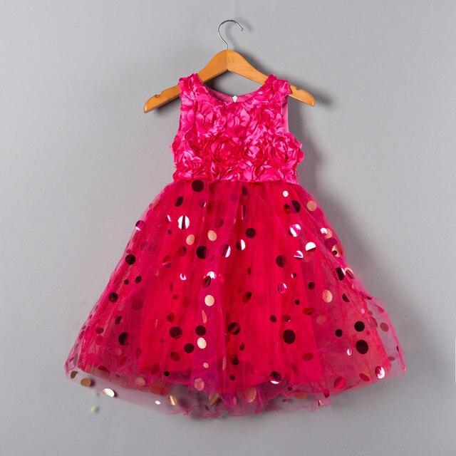 77d5db6b68e Fille 1 2 3 À 6 Ans Enfants Vêtements Princesse D anniversaire robes pour  Les