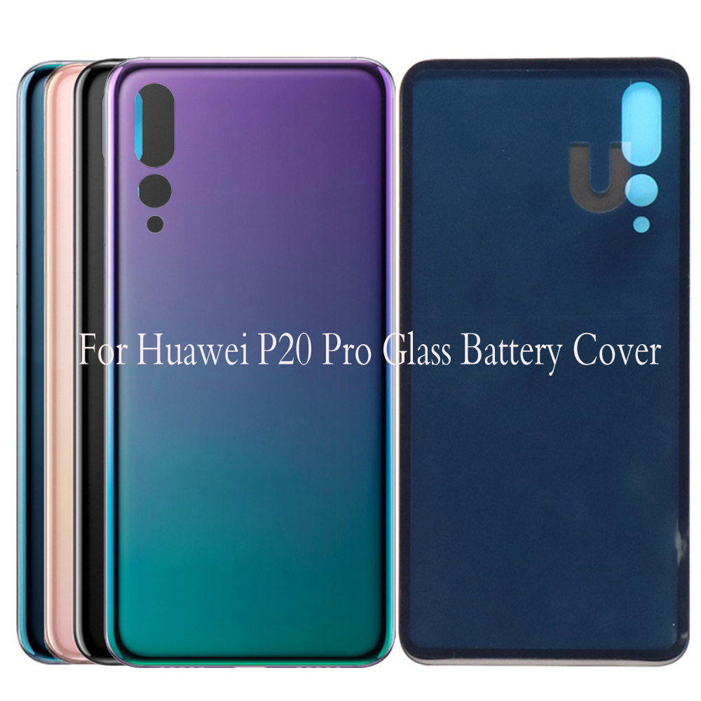 New For Huawei P20 pro glass Battery Cover Rear Door Housing Case Glass Panel Replacement For Huawei p20pro Battery CoverNew For Huawei P20 pro glass Battery Cover Rear Door Housing Case Glass Panel Replacement For Huawei p20pro Battery Cover