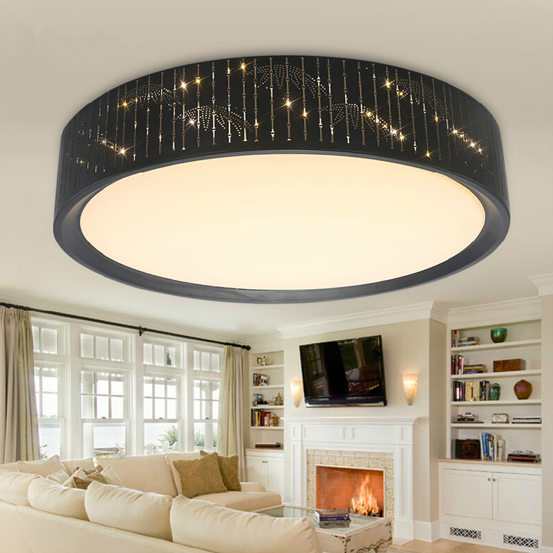 Modern Brief Hollow Iron Dimming LED Ceiling Lights Fixture Home Deco Living Room Bedroom Acrylic Remote Control Ceiling Lamp modern japanese tatami wood octagon led ceiling lamp bried chinese home deco living room acrylic yurts ceiling light fixture