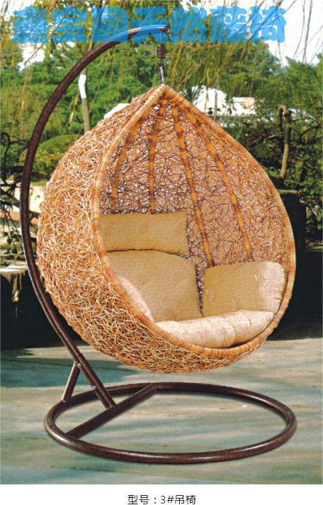 Hanging Patio Chair Wood High With Tray Rattan Indoor Small Fresh Balcony Swing Bird Nest Cage Chair-in Swings From ...