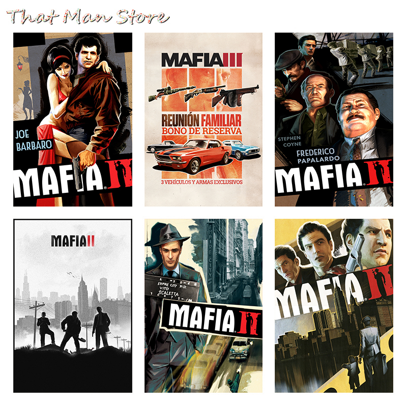 Mafia 2 3 Coated paper Poster Print Video Game Class Home Decor Wallpaper 42*30cm