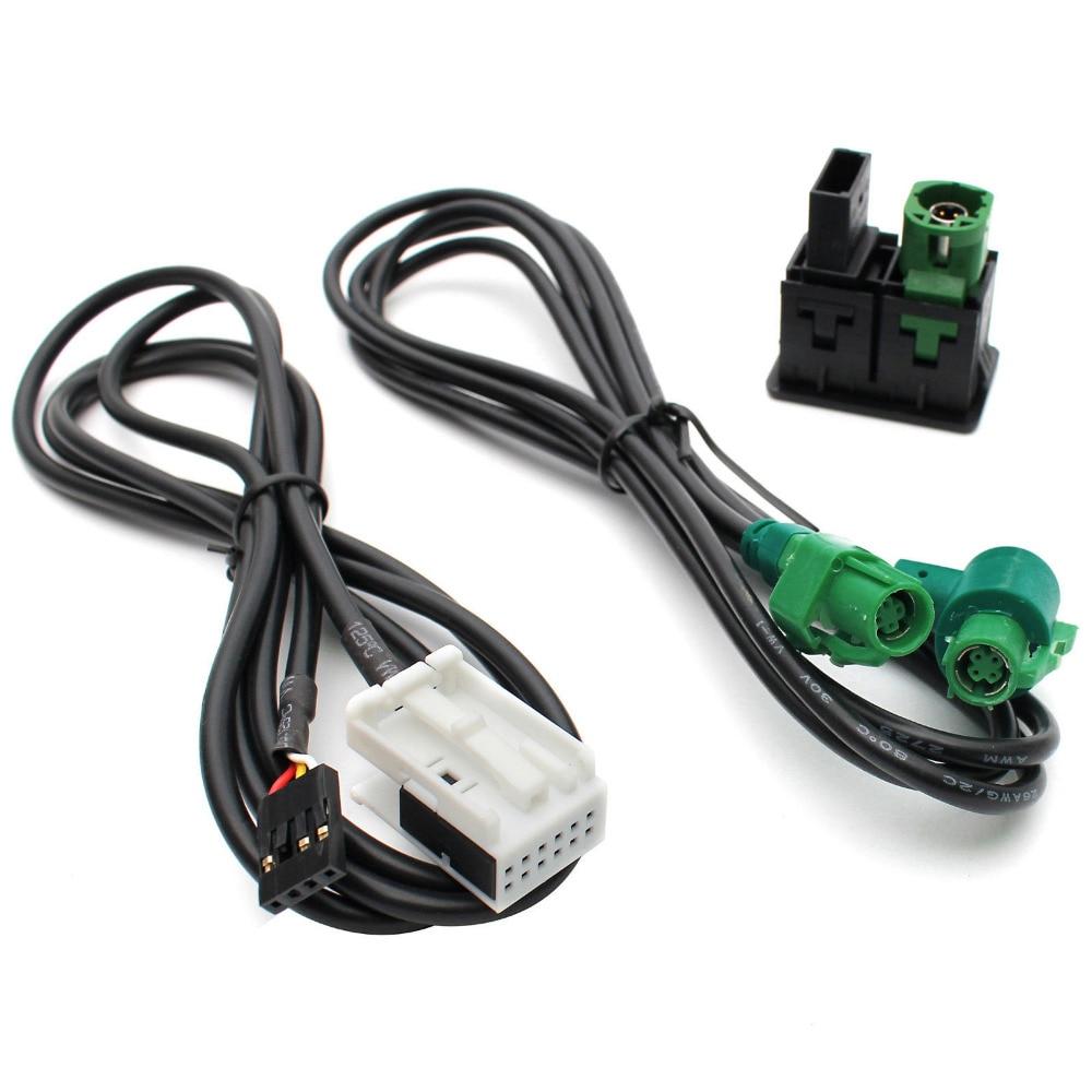imágenes para 3 Unids/lote New Car USB Interruptor Aux y USB Adaptador De Cable de Alambre para BMW 3 serie 5 E87 E90 E91 E92 X5 X6