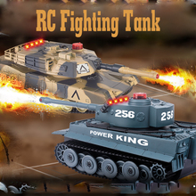 2pcs/set 1:32 2.4G RC Tank Toy With Fighting Infrared Ray Led Remote Control Battle Tanks Model Shoot Robot RC Toys for Kid Gift new intelligent rc robot funny indoor outdoor game toys 2 4g dancing battle model toy multi function remote control robots