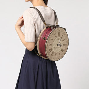 Image 5 - Vintage Round Clock Designer Bag Japan Lolita Style 3 Ways Shoulder Bag Lady Girls Alice Handbag Back pack