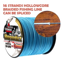 Japan multifilament pe fishing line braided 1000M hollowcore 20LBS 500LBS strength line 0.20mm 2.0mm super big game spoon wire