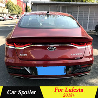 For Hyundai LAFESTA 2018+ Rear Spoiler High Quality ABS Material Primer Color Car Tail Wing Decoration For LAFESTA