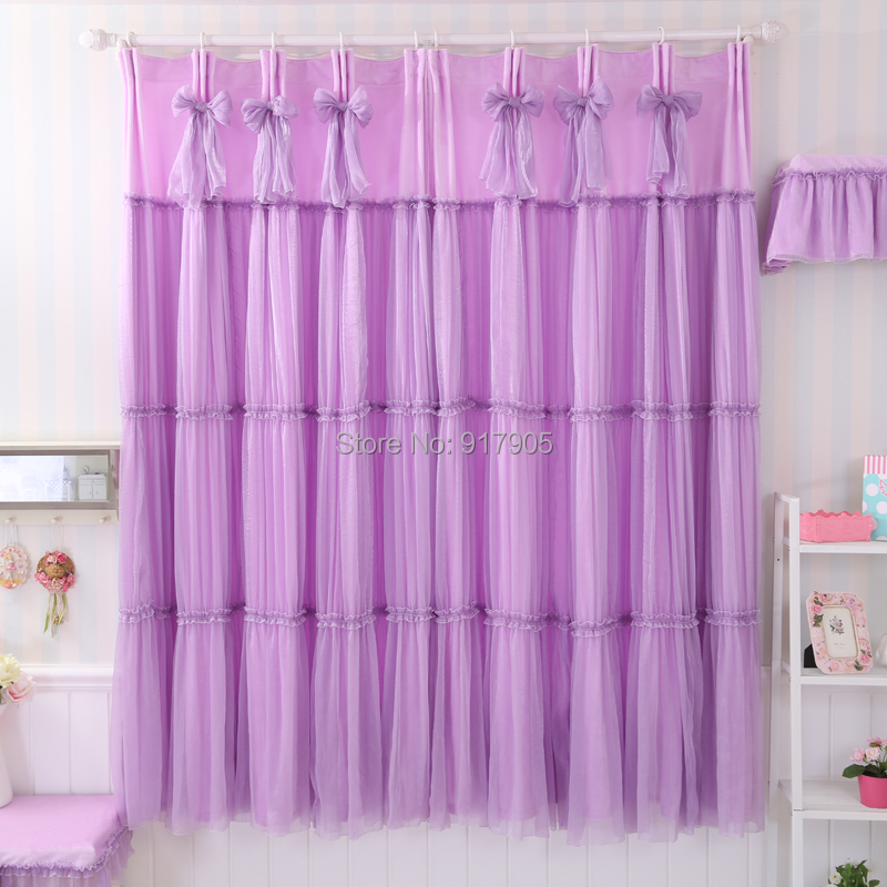 Romantic Purple Bedroom Curtains Elegant Lavender Curtains Luxury Wedding Ceiling Drapes Modern
