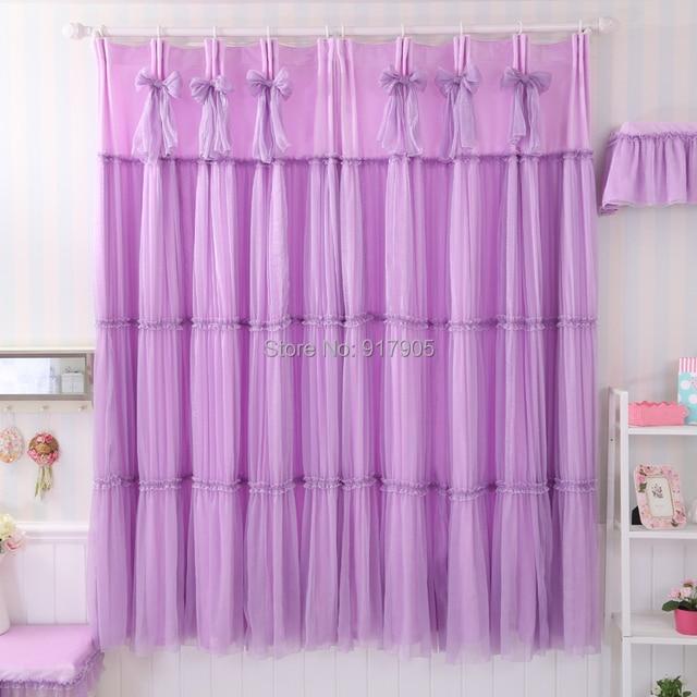 Purple Bedroom Curtains Elegant Lavender Luxury Wedding Ceiling D Modern Pincess Living Room
