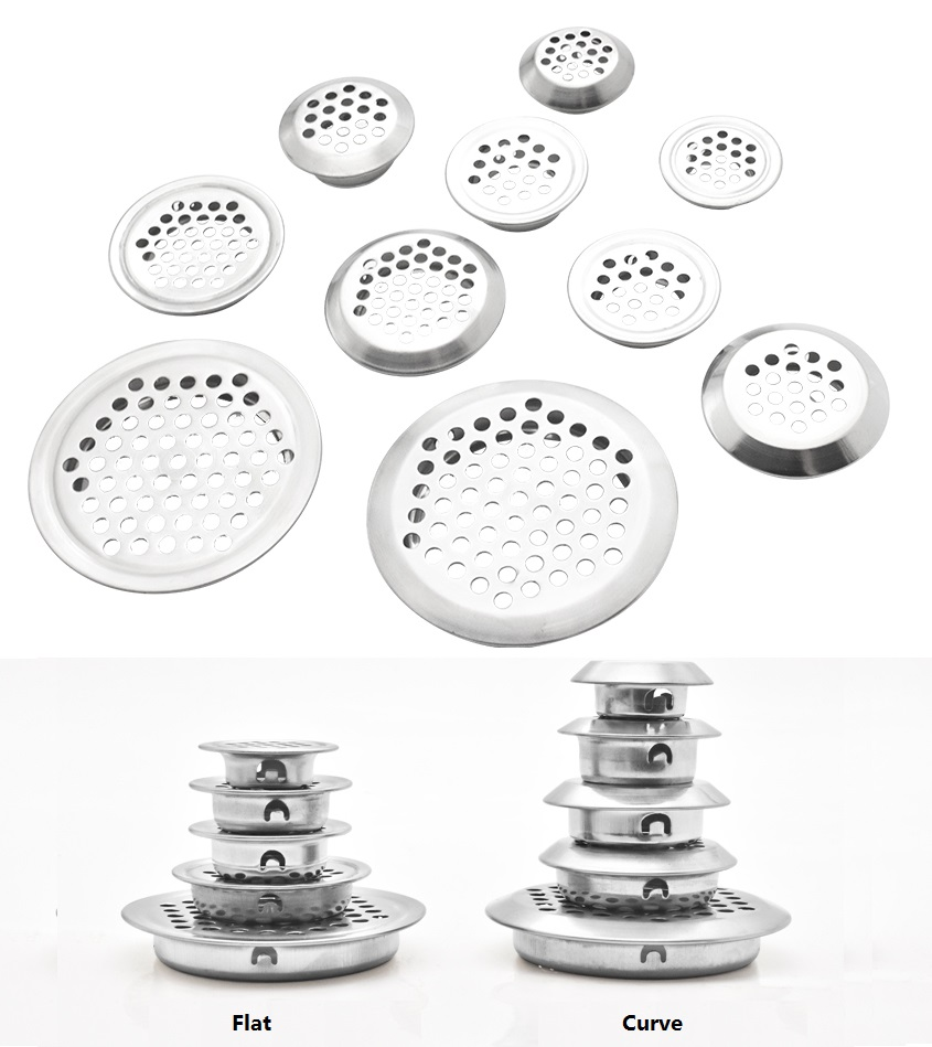 100Pcs/Lot Premintehdw Round Stainless Steel Air Vent Ventilator Grille For Closet Shoe Cabinet
