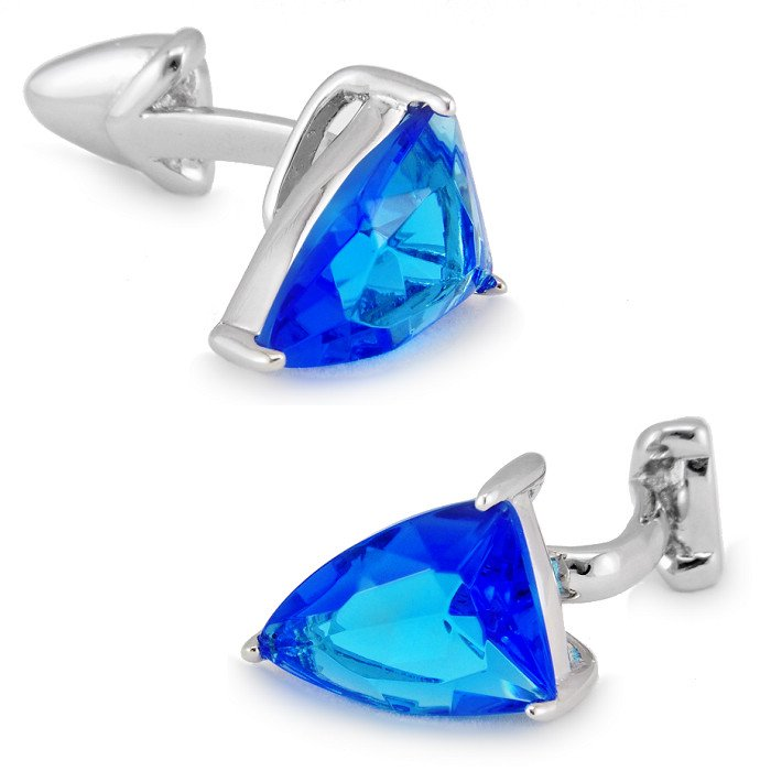 SPARTA SKY BLUE AAA zircon cufflinks men's Cuff Links + Free Shipping !!!