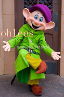 Ohlees Dwarves dunga Mascot Costume Halloween Christmas Adult size party cartoon animal customize