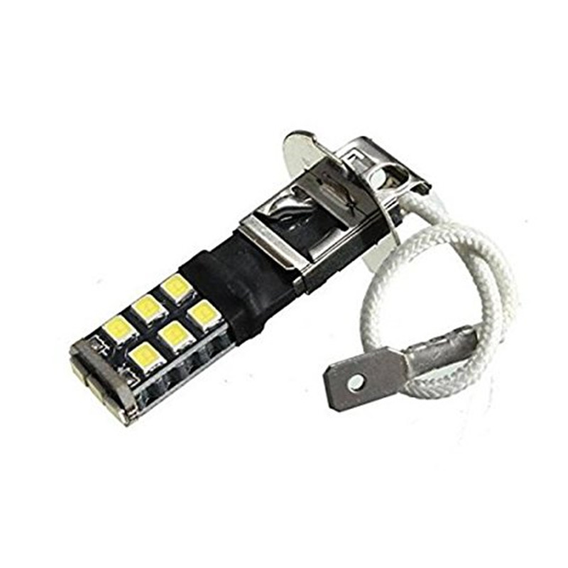 H3 2835 15 SMD Fog Driving LED Lights Bulb Car Lamp 12V Head Lamp Super Bright White Canbus Error Free LED