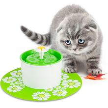 1PC Pet Feeding Mat Placemat Cat Dog Large Floral Anti Slip Waterer Pad Silicone Water Dispenser Fountain Feeder Accessories