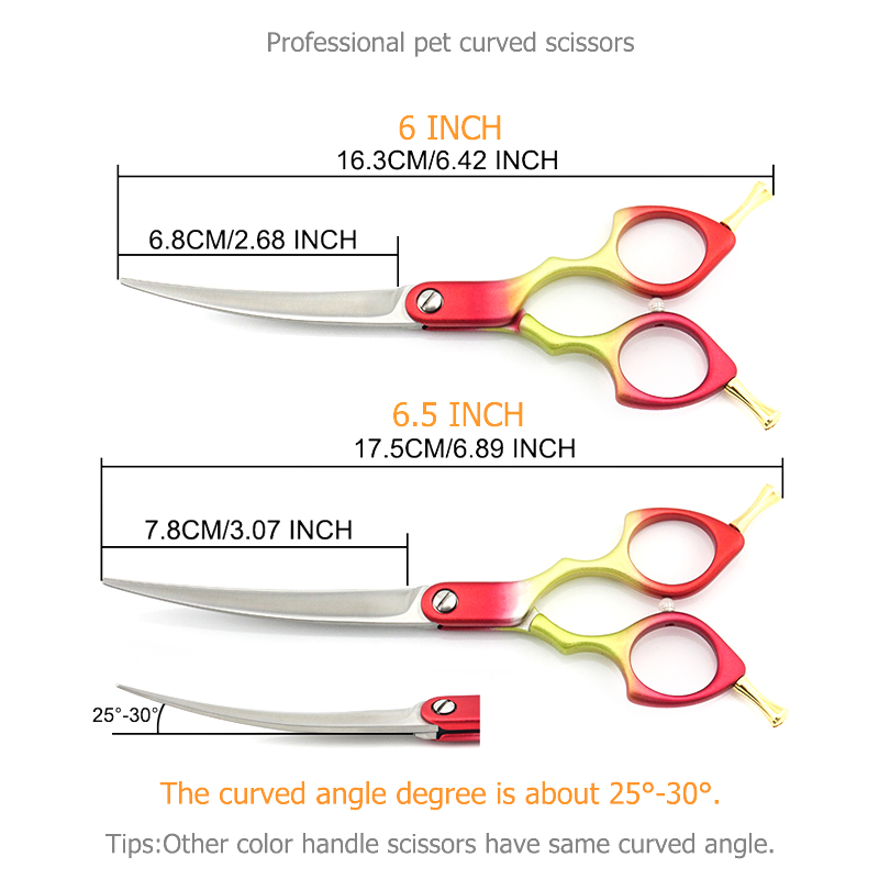 Image 2 - Professional Dog Grooming Scissors Curved  Light Dog Pet Hair Scissors 6 Inch 6.5 Inch Cat Curved Scissors Super JP440C Lyrebird-in Hair Scissors from Beauty & Health