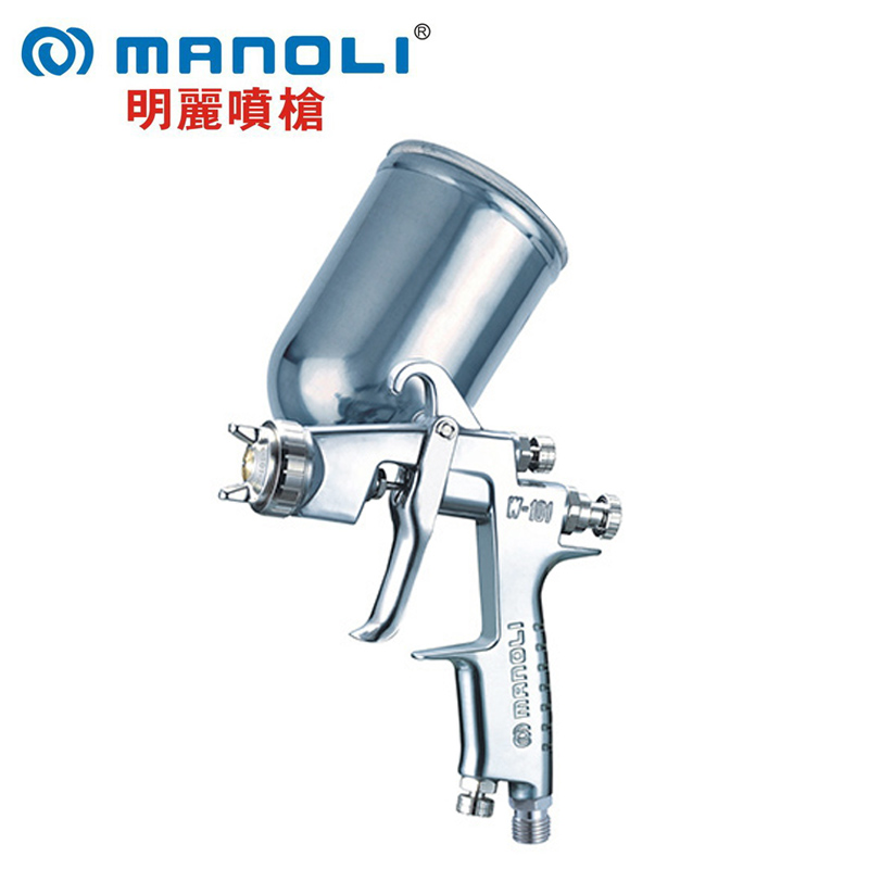 Manoli Spray gun W-101-G gravity type, W101-G painting gun, 1.0 1.3 1.5 1.8mm nozzle size to choose, free shipping купить