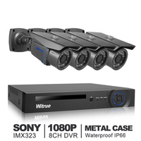 8CH Video Surveillance System 1080P AHD H DVR 4pcs 2 0MP Sony IMX323 AHD Security Camera