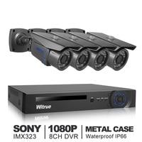 8CH Video Surveillance System 1080P AHD H DVR 4pcs 2 0MP Sony IMX323 AHD Security Camera