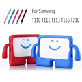 "Stand Case Cover For Samsung Galaxy Tab 3 4 T110 T111 T113 T116 3D Cartoon Case For Samsung Galaxy Tab 3 T210 7.0"" Tablet"