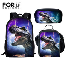 FORUDESIGNS Children School Bags for Kids Girls Boys 3D Dino