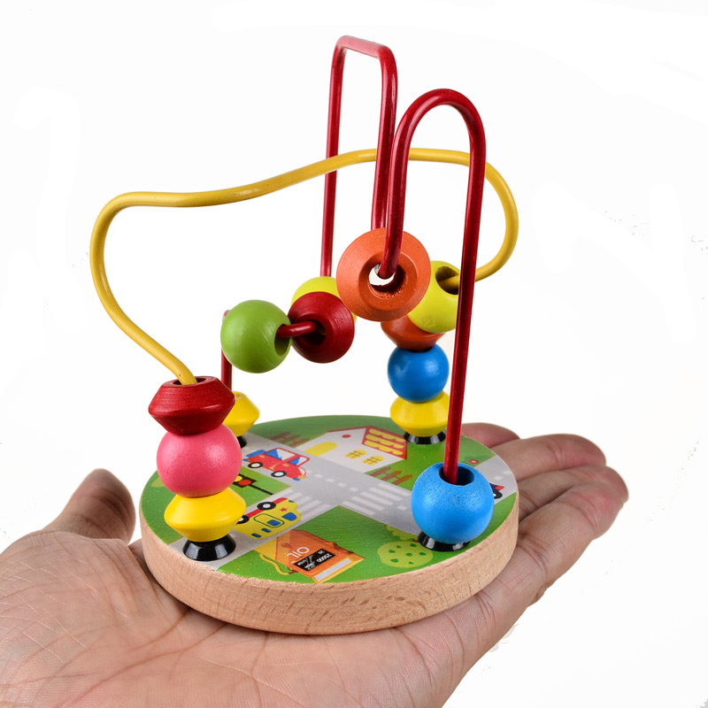 BOHS 4 Patterns Small Bead Maze Children's Toys Fine Motor Skills 1-2 -3 Years Old