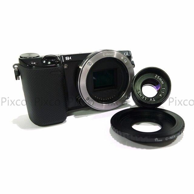 Micro 4//3 //3 Adapter CCTV 25mm f//1.4 C Mount TV Movie Camera Lens
