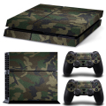 Removable Camo Vinyl pattern Skin Sticker For PlayStation 4 PS4 Console+PS4 Controller Sticker Cover Decals Protector-Camouflage