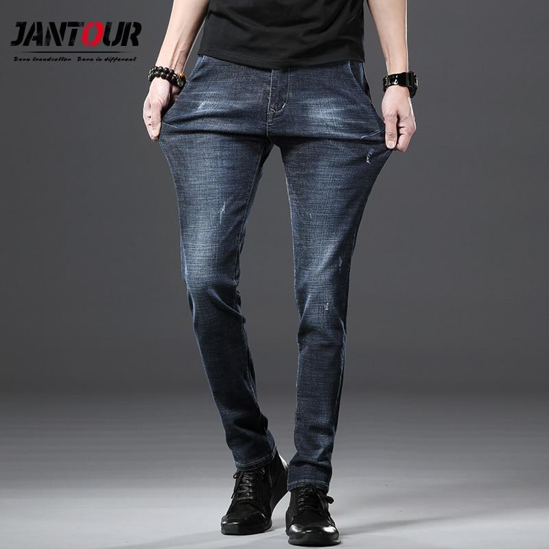 Jantour 2019 spring arrival trousers high quality casual slim fit   jeans   men ,men's Classic pencil pants , mens stretch   jeans   men