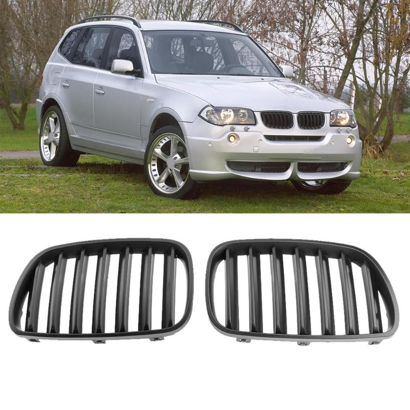 1 Pair Matte Black Front Bumper Kidney Grille for BMW X3 E83 2007-2010 Car Front Bumper Grille for Modification Car Styling New eosuns front bumper grill grille for bmw x3 x3 f25 18i 20i 28i 30dx 35ix 2010 2013