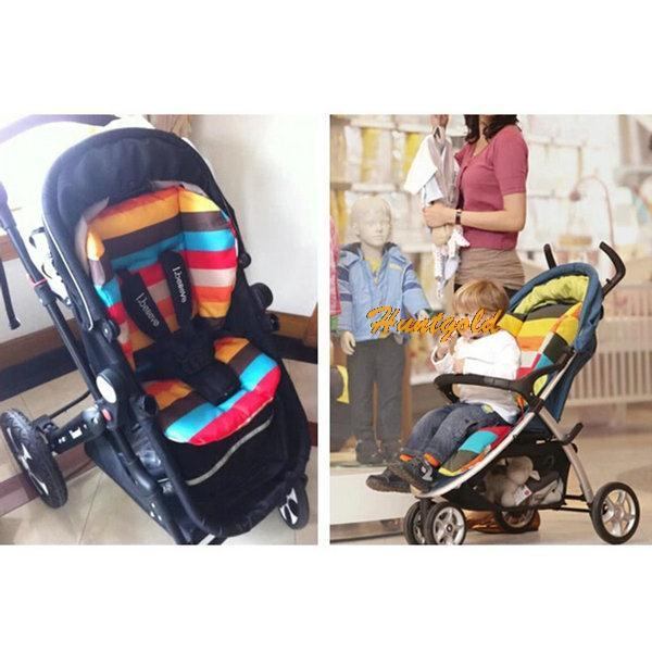 New Baby Infant Stroller Cushion Colors Striped Liner Car