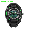 SANDA Waterproof 30 Meters Sport Digital Watches Swimming Diving Wristwatch New Brand Analog Men Watch LED montre homme DH711